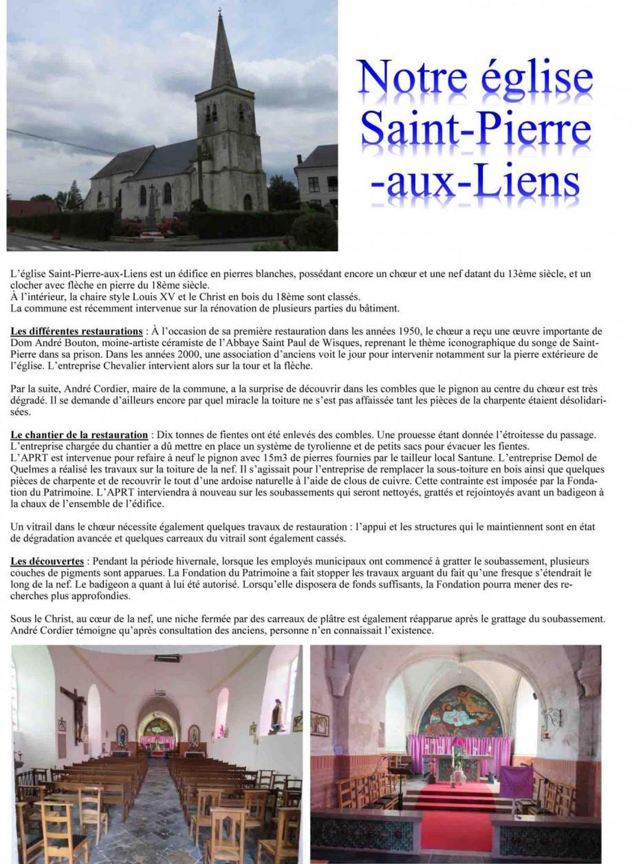 Notre eglise saint pierre aux liens 1