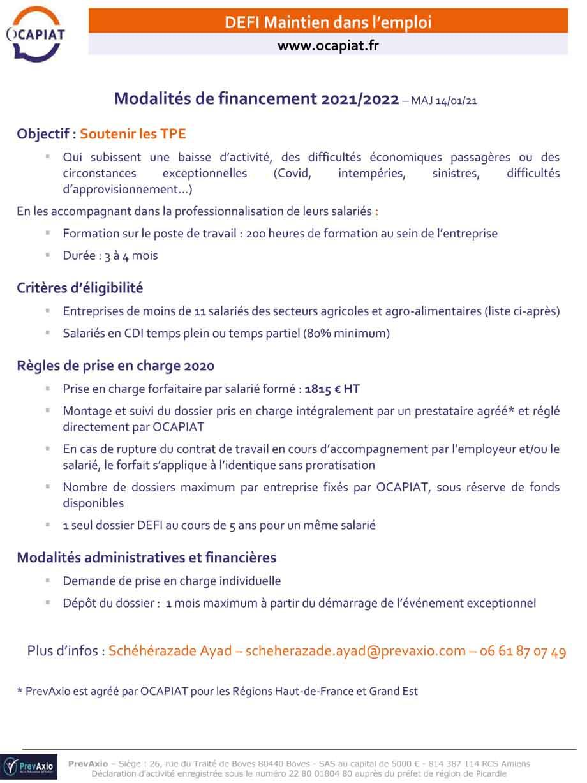 Presentation defi maintien 140121 1