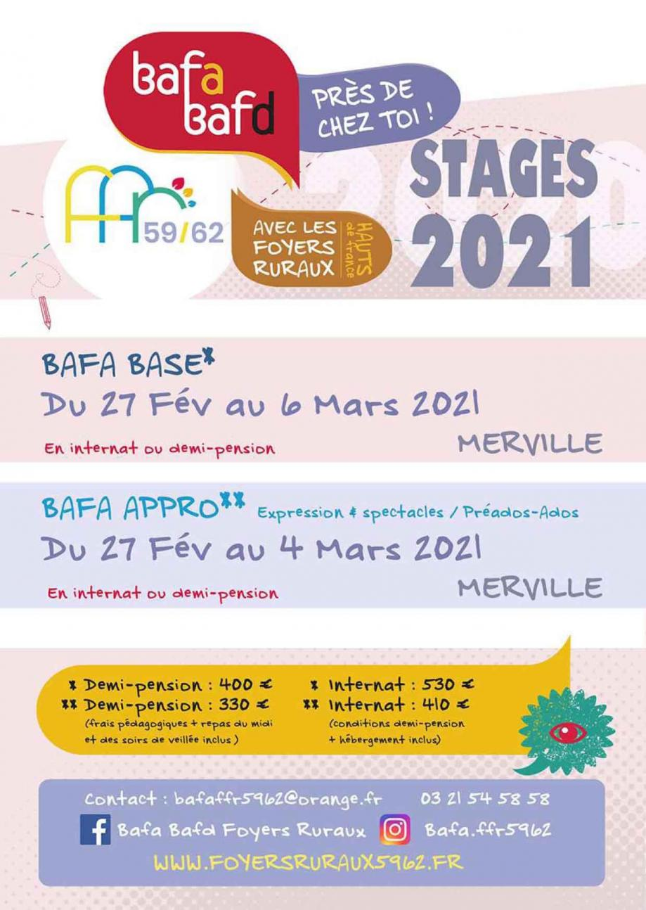 Prochains stages hiver 2021 1