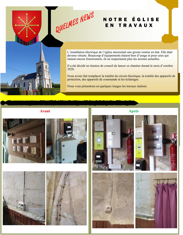 Travaux renovation electrique dans l eglise 1
